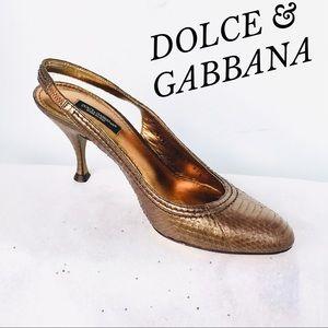 DOLCE & GABBANA COOPER LEATHER PUMPS